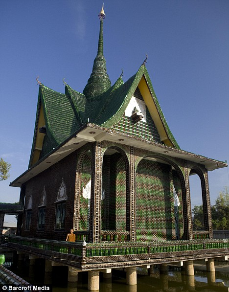buddhist-temple-made-of-beer-bottles